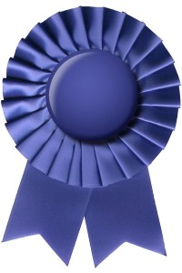 blue prize ribbon