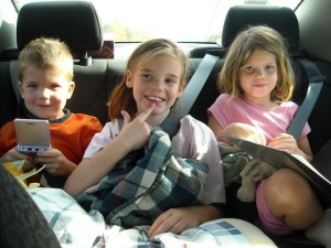 kids in backseat of car