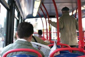 people on city bus